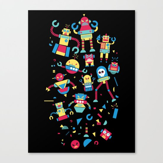 Angrrry Robots! Canvas Print