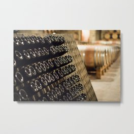 Bottle Valetta Metal Print