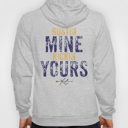 Purple & Gold: Bustin Mine, Kickin Yours Cross Country Hoody