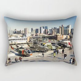 Chopper Cityscape Rectangular Pillow