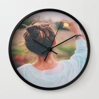 tumblr Wall Clocks featuring Tumblr by Amanda Lily