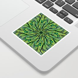 Bright Green Mandala Sticker