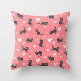 Smitten Kittens Throw Pillow