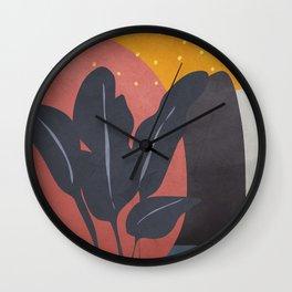 Tropical Abstract Art I Wall Clock