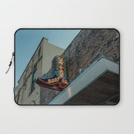 Boot Shop Neon Sign Laptop Sleeve