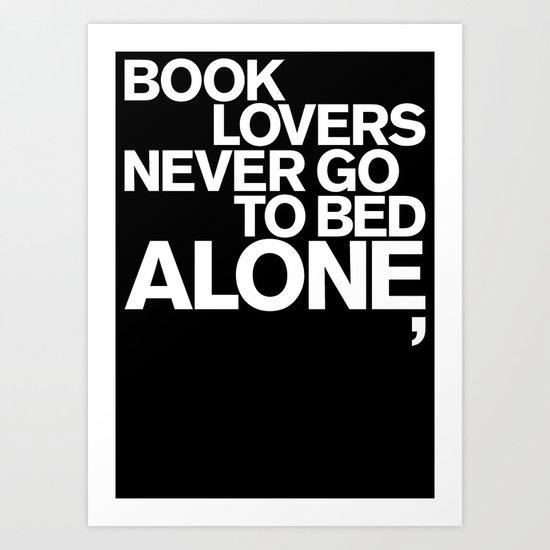 ALONE: NEVER Art Print