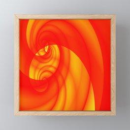 Fleeting Red Framed Mini Art Print