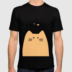 Meow part 2 MEDIUM Black Mens Fitted Tee