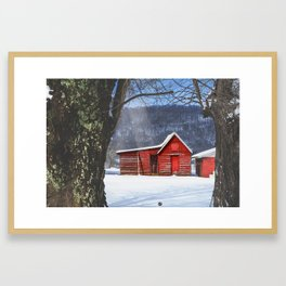 Little Red House Framed Art Print