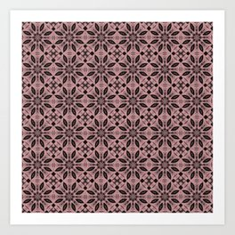 Bridal Rose Floral Pattern Art Print
