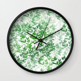 Inspirational Leafy Pattern Wall Clock