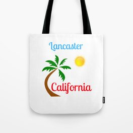 Lancaster California Palm Tree and Sun Tote Bag