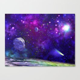 View From a Distant Moon Canvas Print