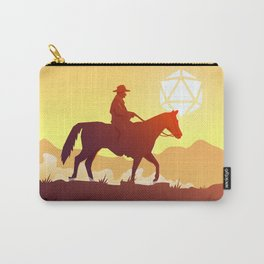 Cowboy Sunset by the Mountains D20 Dice Sun Carry-All Pouch