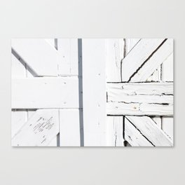 Art Deco White Wooden Gate Canvas Print