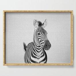 Zebra 2 - Black & White Serving Tray