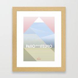 Passo dello Stelvio / Cycling Framed Art Print