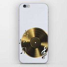 Gold LP Vinyl Record iPhone Skin