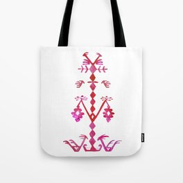 Ethnic Kilim Pattern Tree of Life Tote Bag