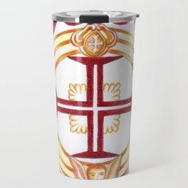 Templar cross. Cruz Templária Travel Mug