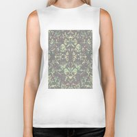 medieval Biker Tanks featuring Medieval Symmetry by Shute Illustration