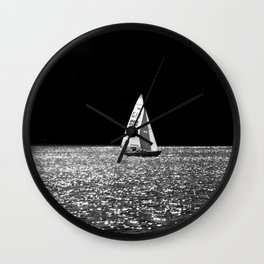 Sailing On The Lake Wall Clock