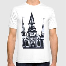 I Heart St. Louis Cathedral  Mens Fitted Tee SMALL White