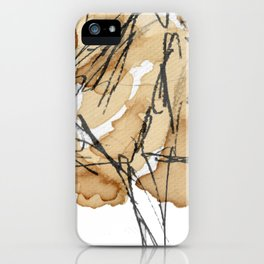 Abstract coffee stain and marker lines iPhone Case