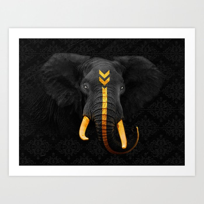 Elephant King Art Print