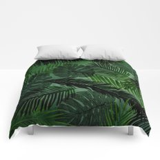 Green Foliage Comforters