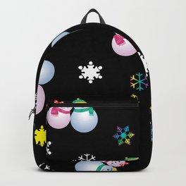 Snowflakes & Pair Snowman_E Backpack