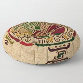 Colorful Hunab Ku Mayan symbol on cotton Floor Pillow