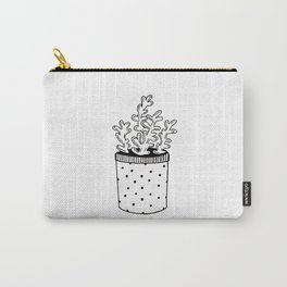 Hand drawn potted succulent Carry-All Pouch