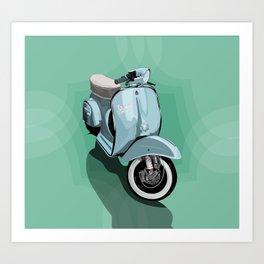 Vespa Vector Art Print