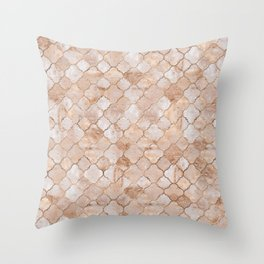 Quatrefoil Moroccan Pattern Pastel  Quartz Throw Pillow