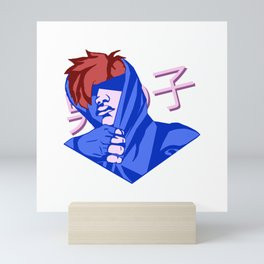 Roy Vaporwave Smash Design Mini Art Print