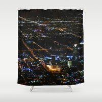 oklahoma Shower Curtains featuring Oklahoma City by Nadege Torrentgeneros
