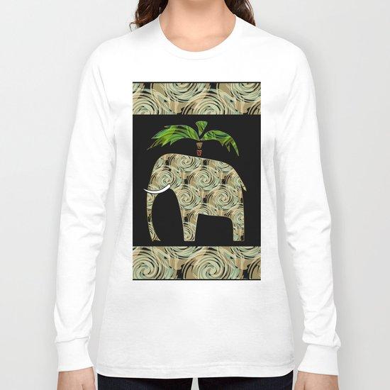 Elephant under a palm tree . Long Sleeve T-shirt