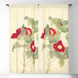 Red flowers , red flowers Blackout Curtain