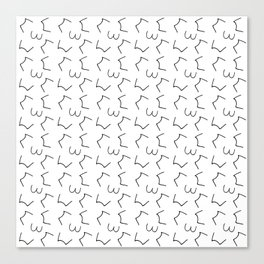 free scribble 13 black and white Canvas Print