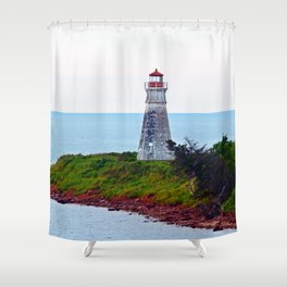 Lighthouse Cape Jourimain N-B Shower Curtain