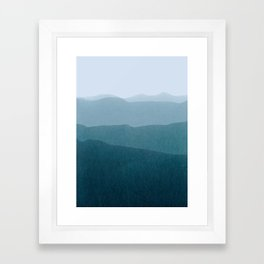 gradient landscape Framed Art Print