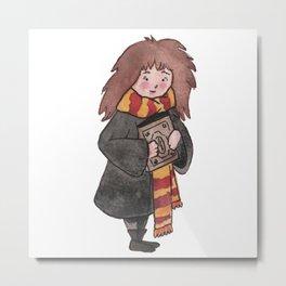 Hermione Watercolor art Metal Print
