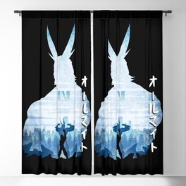Minimalist Silhouette All Might Blackout Curtain