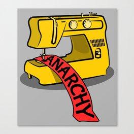 Anarchy Sewing Machine Canvas Print