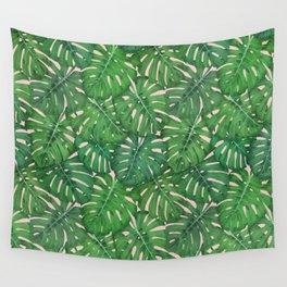 ROSE QUARTZ MONSTERA, by Frank-Joseph Wall Tapestry