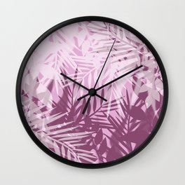 Pink tropical background Wall Clock