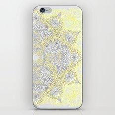 Sunny Doodle Mandala in Yellow & Grey iPhone & iPod Skin