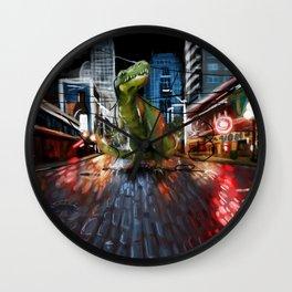 Nightlife in Seattle Wall Clock