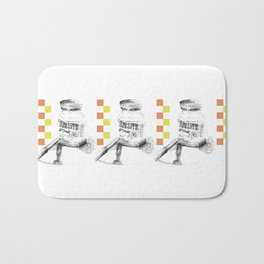Triple Chocolate Spread Illustration Bath Mat